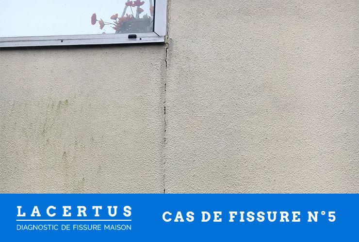 diagnostic de fissure sur un mur d'extension de maison